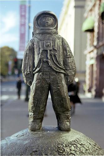 Spaceman on Karl Johans Gate, Oslo, Norway