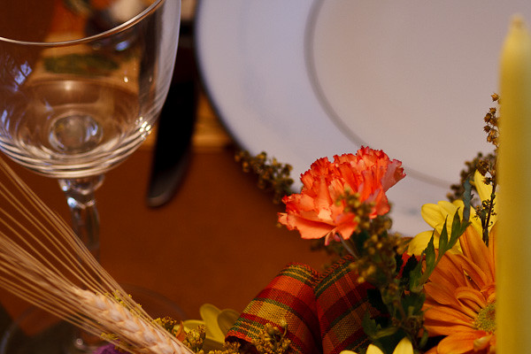 A Thanksgiving place setting