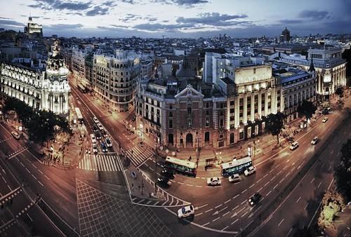 Madrid under blue