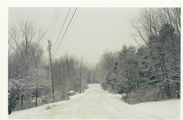 snowy vermont