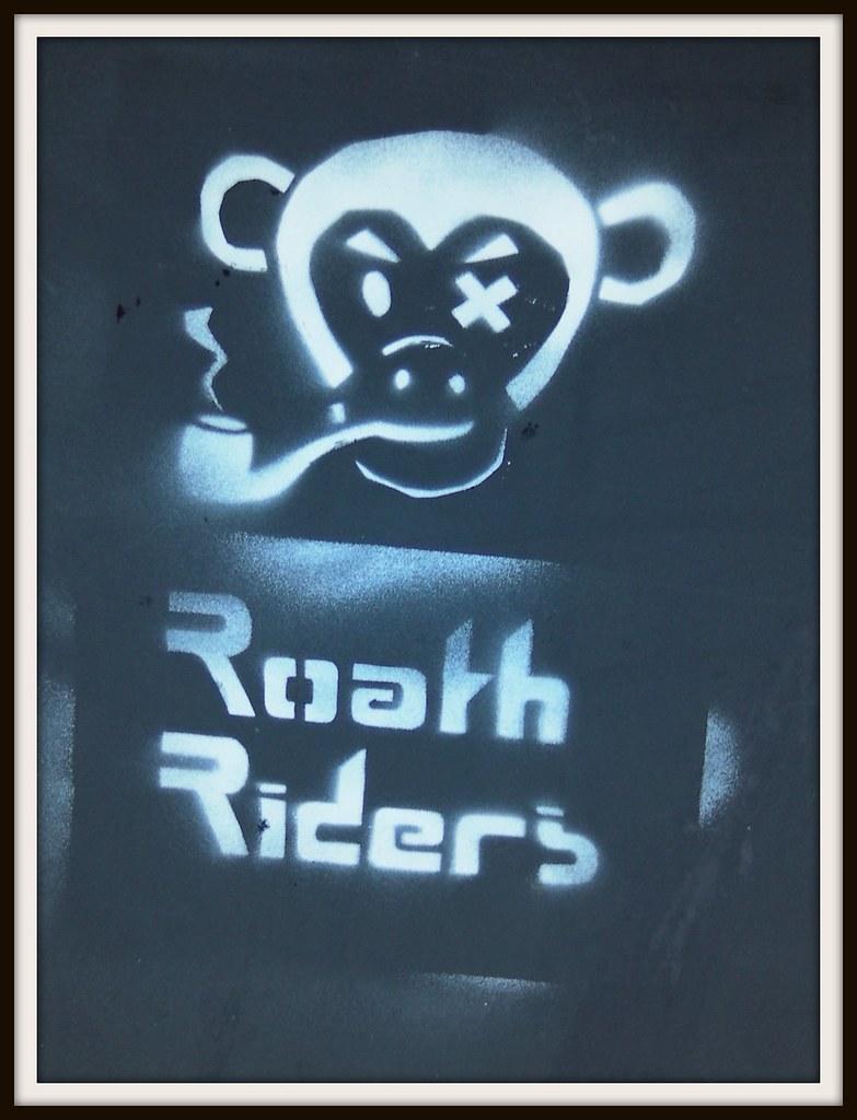 Wintry graffiti in Roath, Cardiff. Roath Riders