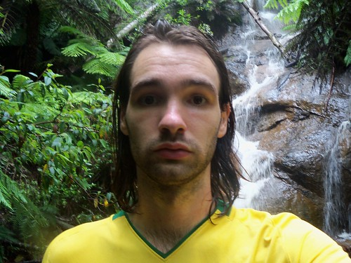 This is my disappointed by the waterfall/I'm a sweaty bojangle look