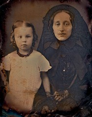Widow and Child, 1/9th-Plate Daguerreotype, Ci...