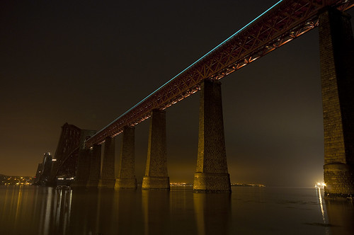Forth Bridge Light Trail