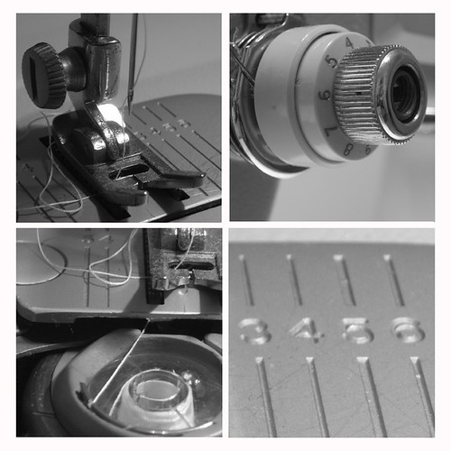 Sewing Machine B&W mosaic