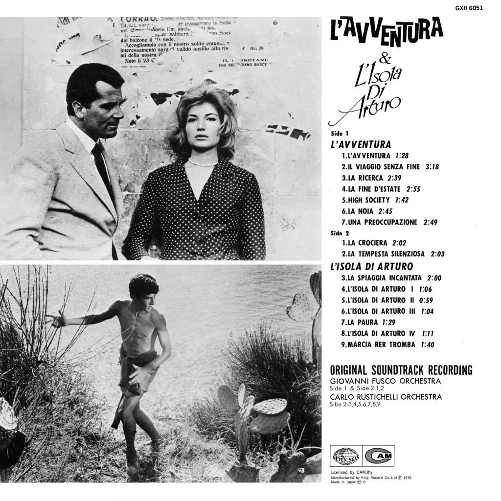 Giovanni Fusco / Carlo Rustichelli - L'avventura / L'isola di Arturo