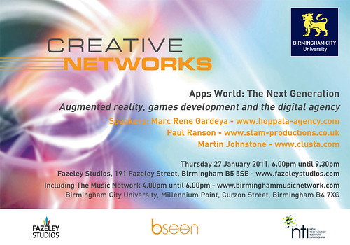 Creative Networks, Birmingham 27th January 2011