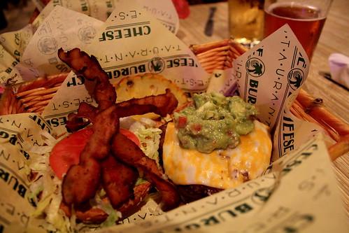 Tuesday: Guacamiole Burger with Bacon. So good.