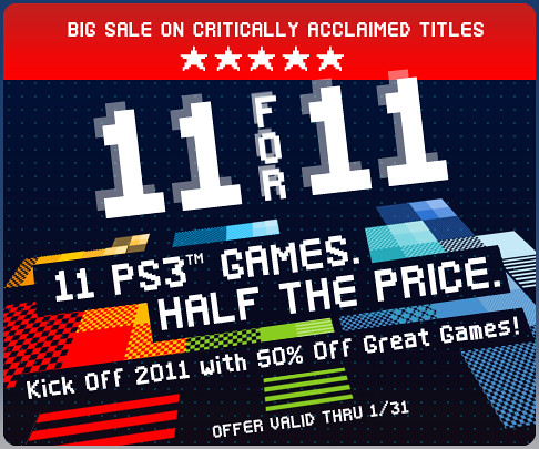 PlayStation Store Sale - 11 for 2011