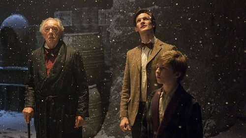 Michael Gambon, Matt Smith and Laurence Belcher