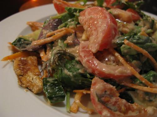 tofu satay salad