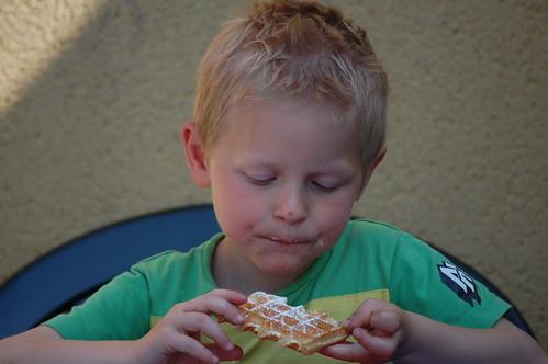 Wafel eten