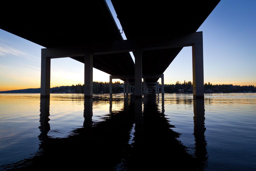 I-90 sunset
