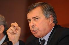 Francois Bourguignon speaking in the Plenary Session