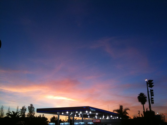 Sunset over Chevron