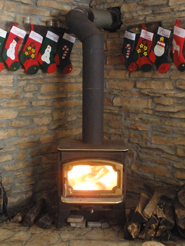 Fire in the Wood Stove