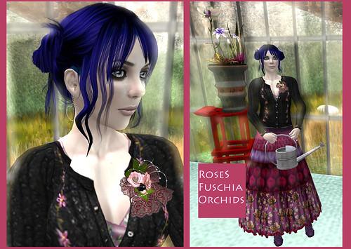 Roses fuschia orchids
