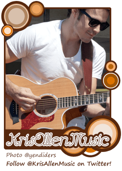 Kris Allen Music web site button banner