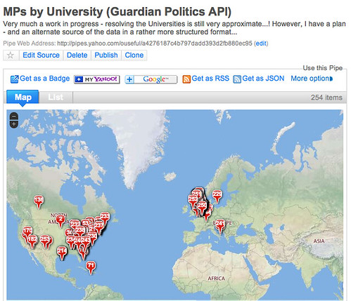 MPs by university - badly coded...