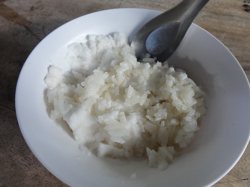 Cocount ice cream with rice