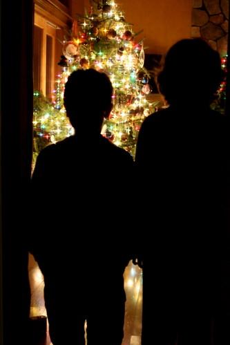 Christmas tree sihouette