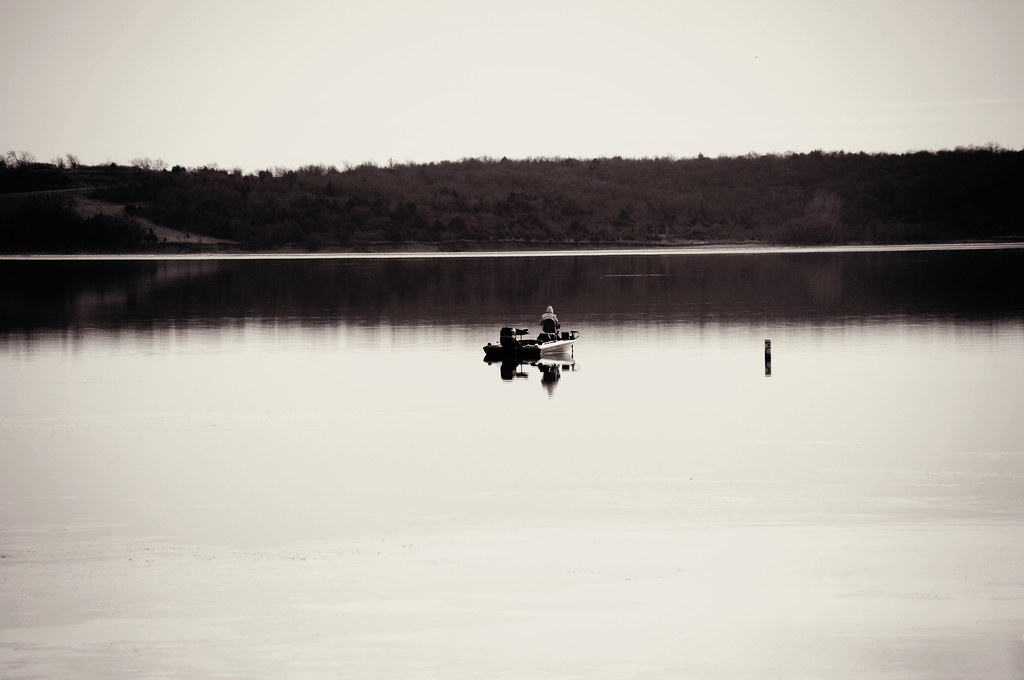 gallery32 black & white Clinton Lake photo Lawrence Kansas