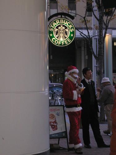 Santa at Starbucks...