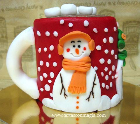 hombre de nieve naranja