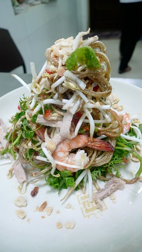 Banana flower salad @ Hanoi Cooking Centre