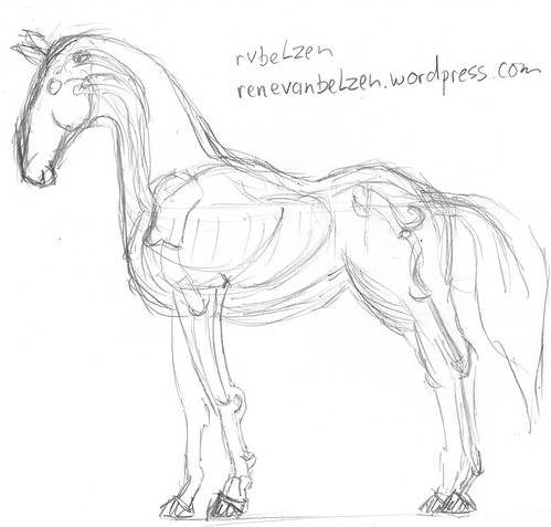 Horse from tutorial, drawn live on Justin TV