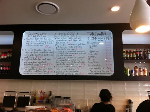 menu - three tone cafe