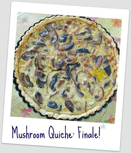 Mushroom Quiche: Cooked!