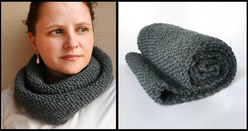 gray endless shawl