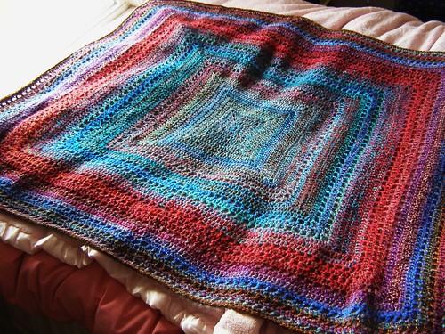 handspun baby blanket