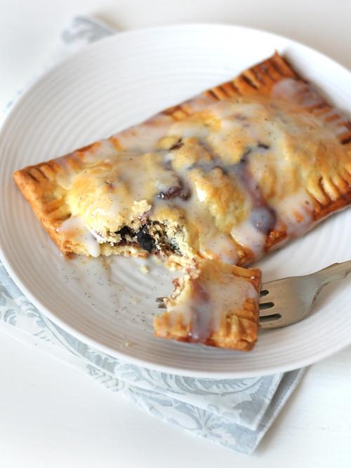 cherry pop tarts with vanilla bean glaze