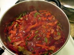 Simmering Borscht