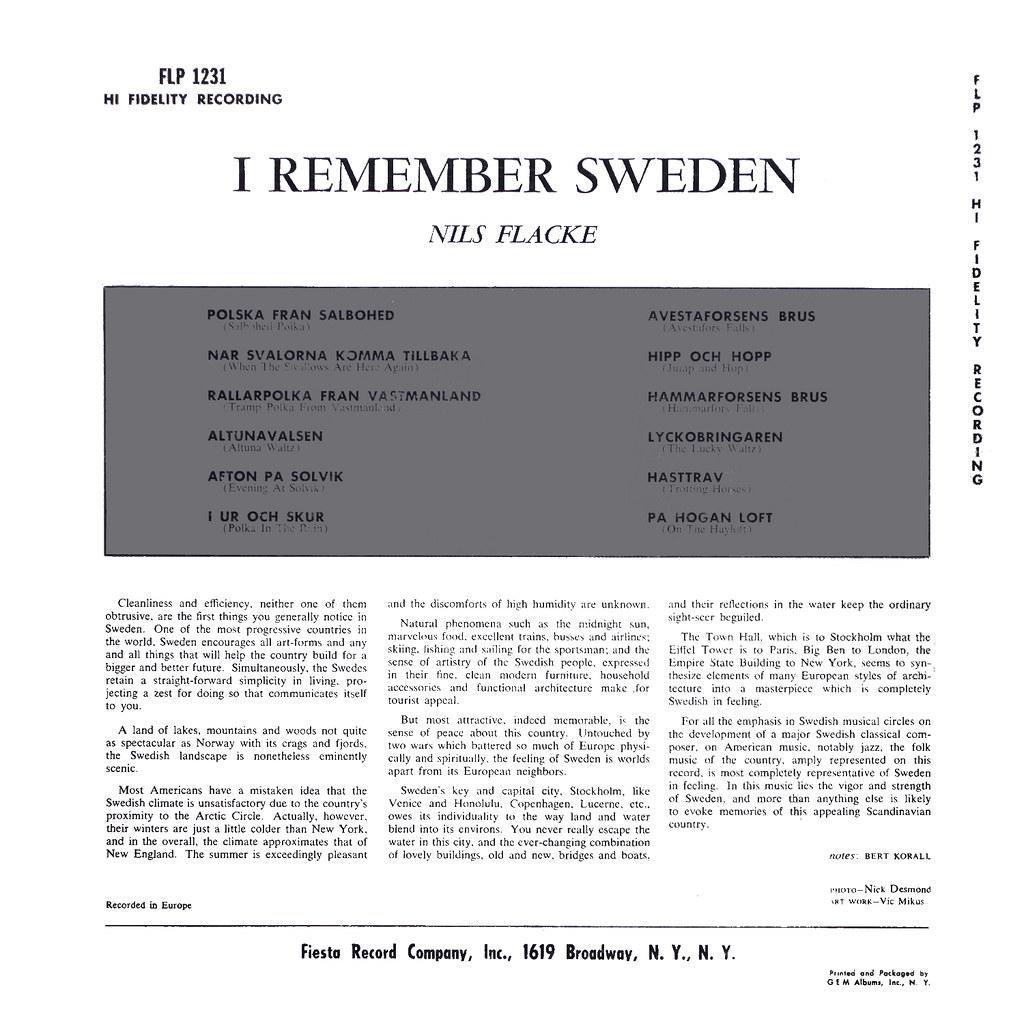 Nils Flacke - I Remember Sweden