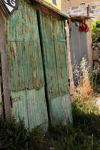 Rusty-green-door