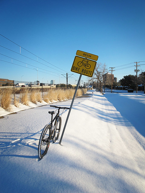 Snowy Bike Route