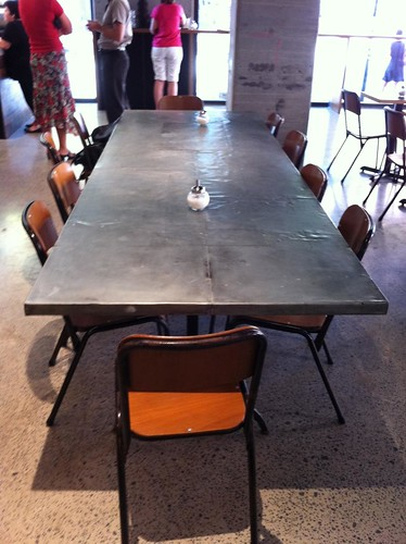 big communal table - mecca espresso, ultimo