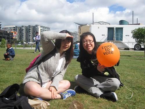Mel & her Korean friend