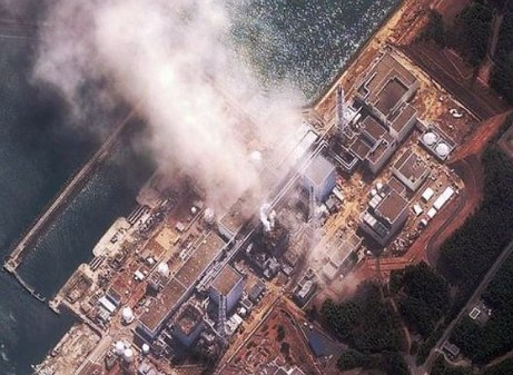 fukushima explosions from  air