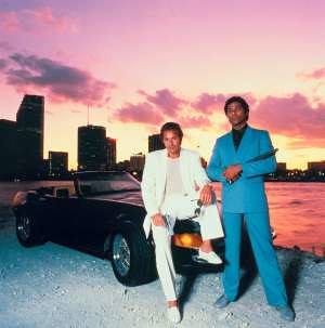 Miami Vice Car Pose TV Show