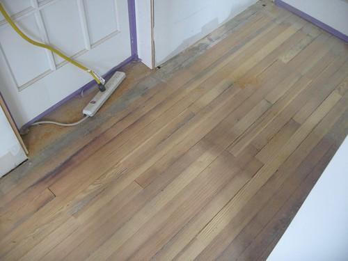 First pass over floor repair