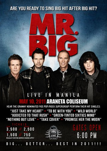 Mr. Big Live in Manila 2011