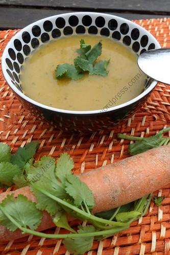 Soupe aux carottes et à la coriandre / Carrot and Coriander Soup