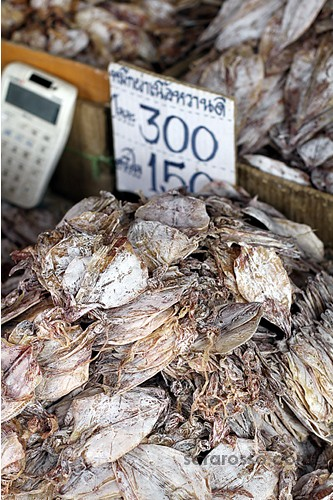 Dried Cuttlefish, Street Food in Thailand