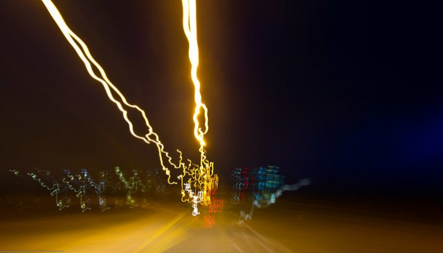 Driving at night with the Tokina 11-16mm by Dave Besnette as I drove