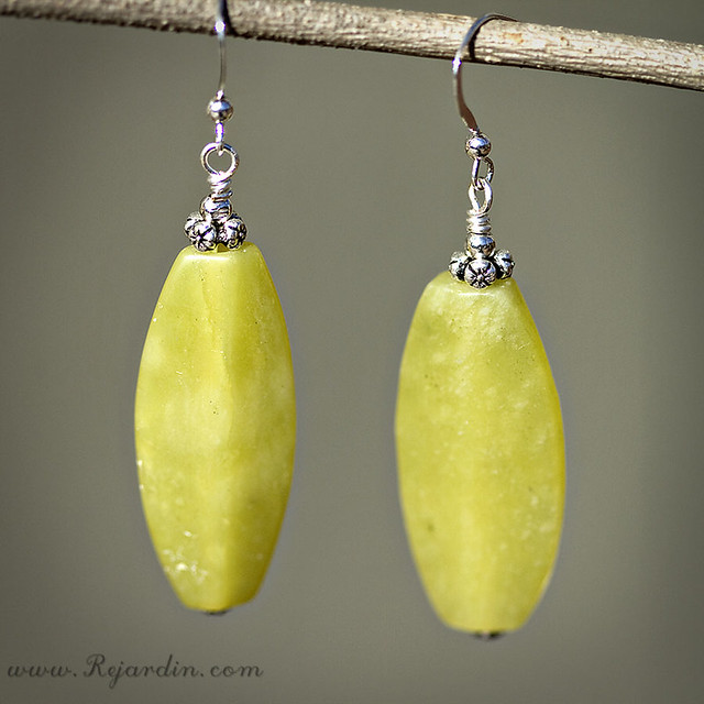 Olive Jade Earrings