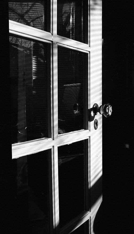 Sun on the door